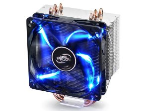 Cooler Deepcool Gammaxx 400 4 Heatpipes 120mm PWM Fan c/ Blue LED (DP-MCH4-GMX400)