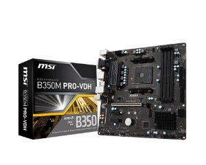 MSI B350M PRO-VDH AM4 AMD B350 SATA 6Gb/s USB 3.1 HDMI Micro ATX AMD