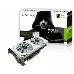 Galax GEFORCE GTX 1060 EXOC White 6GB GDDR5 192Bits 8008MHZ DX12 (60NRH7DVM3VW)