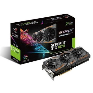 ASUS GEFORCE GTX 1070 ROG Strix 8Gb GDDR5 256-Bits (ROG STRIX-GTX1070-O8G-GAMING)
