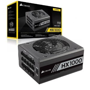 Fonte Corsair HX1000 Series 1000W 80 PLUS PLATINUM Certified Full Modular (CP-9020139-WW)