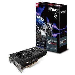 Sapphire radeon Nitro+ RX 580 8G GDDR5 256-Bits DVI / Dual HDMI / Dual DP / w/ Backplate (11265-01-20G)