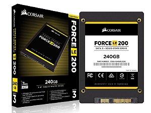 "SSD Corsair Force LE 240GB SATA III 6Gb/s 2.5"" Leituras: 560MB/s e Gravações: 530MB/s (CSSD-F240GBLE200C)"