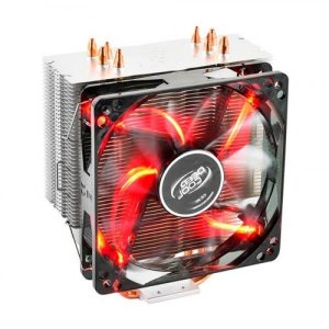 Cooler Deepcool Gammaxx 400 4 Heatpipes 120mm PWM Fan c/ RED LED (DP-MCH4-GMX400RD)