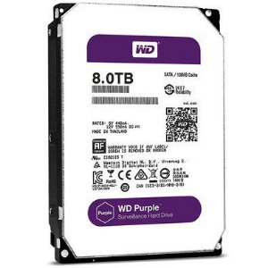 "Western Digital Purple Surveillance 8TB 128MB Cache SATA 6.0Gb/s 3,5"" 5400RPM (WD80PURZ)"