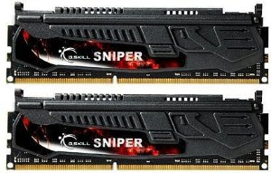 G.SKILL Sniper Series 8GB (2 x 4GB) 240-Pin DDR3 SDRAM DDR3L 1600 (PC3L 12800) Low Voltage (F3-12800CL9D-8GBSR1)