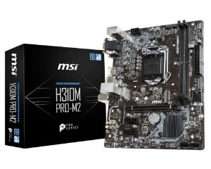 MSI H310M PRO-M2 LGA 1151 (300 Series) Intel H310 HDMI SATA 6Gb/s Micro ATX Intel