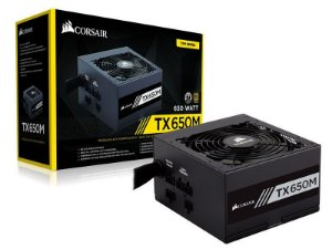 Fonte Corsair TX-M Series TX650M 650W PLUS GOLD Certified Semi-Modular Active PFC (CP-9020132-WW)
