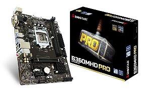 BIOSTAR B360MHD PRO LGA 1151 (300 Series) Intel B360 HDMI SATA 6Gb/s USB 3.1 Micro ATX Intel