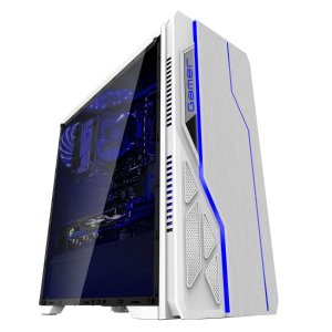 Gabinete Bluecase Gamer BG-009 Branco USB 3.0 Frontal