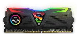 GeIL SUPER LUCE RGB SYNC 8GB (1 x 8GB) 288-Pin DDR4 SDRAM DDR4 3000Mhz (PC4 24000) (GLS48GB3000C16ASC)