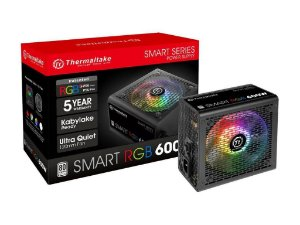 Thermaltake Smart RGB Series 600W ATX 12V V2.3 80 PLUS Active PFC (SPR-0600NHFAW)
