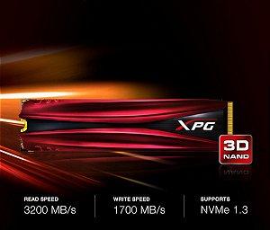 XPG ADATA GAMMIX S11 240GB 3D NAND NVMe Gen3x4 M.2 2280 SSD (AGAMMIXS11-240GT-C)