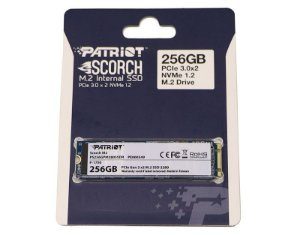Patriot SCORCH SSD M.2 2280 256GB PCIe 3.0 x2 NVMe 1.2 (PS256GPM280SSDR)