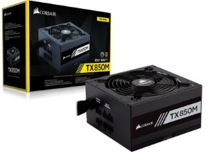 Fonte Corsair TX-M Series TX850M 650W PLUS GOLD Certified Semi-Modular Active PFC (CP-9020130-WW)
