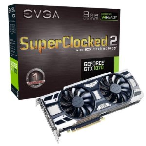 EVGA GeForce GTX 1070 SC2 GAMING iCX 8GB GDDR5 256bit Thermal Display LED System (08G-P4-6573-KR)