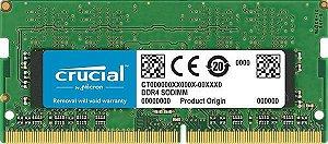 Memória Note Crucial 8GB DDR4 2400 (PC4 19200) 204-Pin SO-DIMM (CT8G4SFS824A)