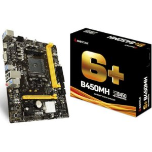 BIOSTAR B450MH AM4 AMD B450 SATA 6Gb/s USB 3.1 HDMI Micro ATX