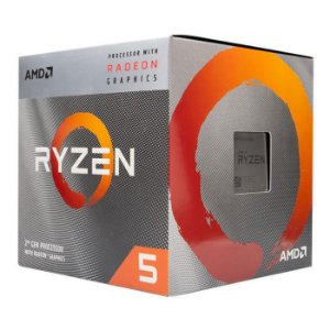AMD RYZEN 5 3400G 4-Core 3.7 GHz (4.2 GHz Max Boost) Socket AM4 65W (YD3400C5FHBOX)
