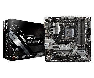 ASRock B450M PRO4 AM4 AMD B450 SATA 6Gb/s USB 3.1 HDMI Micro ATX