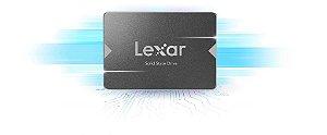 """SSD Lexar NS100 256GB SATA 3.0 (6 Gbit/s) 2.5"""" Leitura 520MB/s (LNS100-256RBNA)"""
