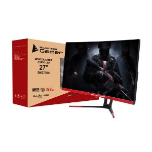 "Monitor Gamer Bluecase 27"" Widescreen Curvo Full HD HDMI/Display Port, FreeSync 144HZ, 1MS(GTG) (BM275GC)"
