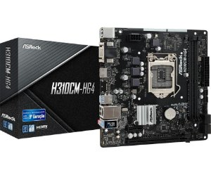 ASRock H310CM-HG4 LGA 1151 (300 Series) Intel H310 HDMI SATA 6Gb/s USB 3.1 Micro ATX