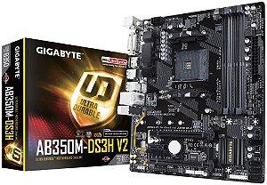 GIGABYTE GA-AB350M-DS3H V2 (rev. 1.1) AM4 AMD B350 SATA 6Gb/s USB 3.1 HDMI Micro ATX AMD