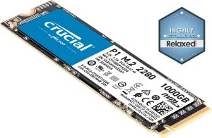 Crucial P1 SSD M.2 1TB 3D NAND NVMe PCIe (CT1000P1SSD8)