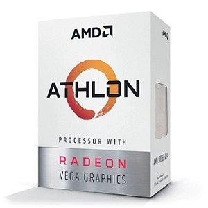 AMD Athlon 3000G 2-Core, 4-Thread, 3.5 GHz Base, Socket AM4 35W (YD3000C6FHBOX)