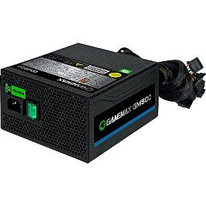 Fonte Gamemax 500W 80 Plus Bronze PFC Ativo Preta (OEM - Sem caixa) (GM500 OEM)