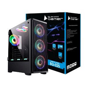 Gabinete Bluecase Gamer BG-025 Preto Lateral em Vidro USB 3.0 (BG025GCASE)