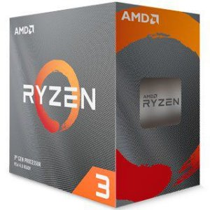 AMD Ryzen 3 3300x 3.8GHz (4.3GHz Turbo), 4-Cores 8-Threads, Cooler Wraith Stealth, AM4, 100-100000159BOX