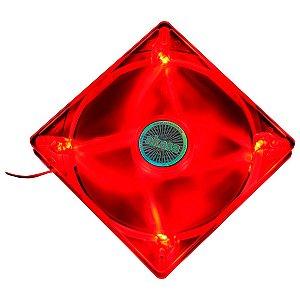 Fan Akasa 140MM Quiet LED Vermelho (AK-FN075)