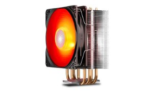Cooler Deepcool Gammaxx 400 V2 4 Heatpipes 120mm PWM Fan c/ Red LED (DP-MCH4-GMX400V2-RD)