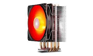 Cooler Deepcool Gammaxx 400 V2 4 Heatpipes 120mm PWM Fan c/ Red LED (DP-MCH4-GMX400V2-RD)