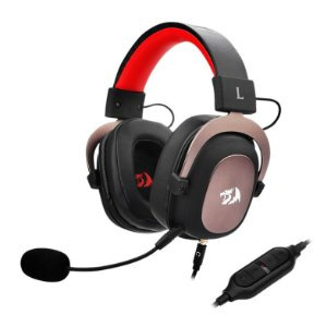 Headset Gamer Redragon Zeus 2 H510-1, 7.1 Som Surround, Drivers 53mm, Preto/Vermelho - H510-1