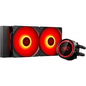 Water Cooler Deepcool Gammaxx L240T, 240mm, Led Vermelho (DP-H12RF-GL240TR)