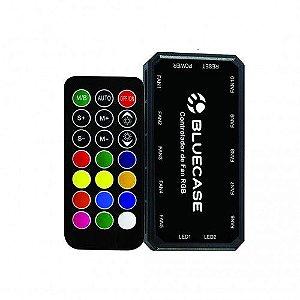 Controlador de Cooler Fan Bluecase BCF-02, RGB, Suporta até 10 Fans / 2 Fitas LED RGB (BCF-02)