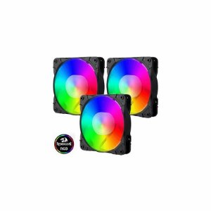 Redragon Kit Fan Cooler  3 Unidades, RGB, 12cm (GC-F007)