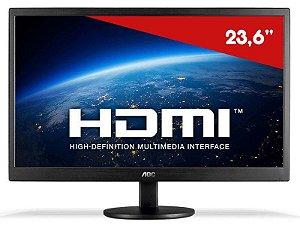 Monitor AOC LED 23.6, FULL HD, Altura Ajustável (M2470SWH2)