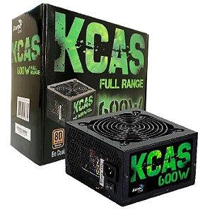 Fonte Aerocool KCAS 600W, 80 Plus Bronze, Full Range, PFC Ativo (KCAS-600W)