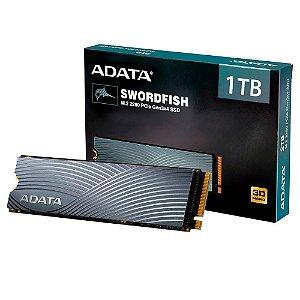 Adata Swordfish, 1TB, M.2 PCIe, Leituras: 1800MB/s e Gravações: 1200MB/s (ASWORDFISH-1T-C)
