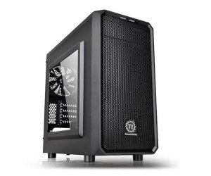 Gabinete Thermaltake Versa H15, Mini Tower, Com 1 Fan, Black (CA-1D4-00S1WN-00)