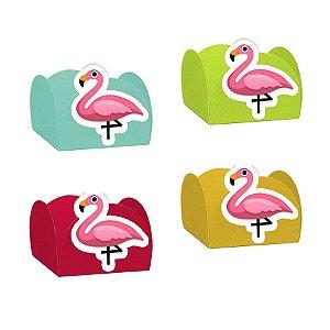 Forminha para Doces Flamingo com 24 unidades