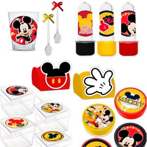 Kit Lembrancinhas Festa Mickey 200 itens para 30 Convidados