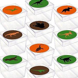Caixinha Acrílica para Lembrancinha Festa Dinossauro com 20 unidades Lembrafesta