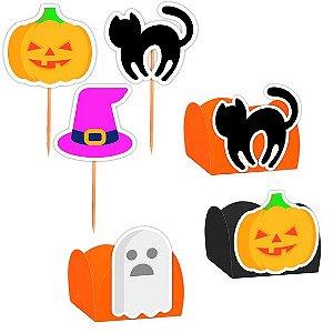 Kit Decoração Festa Halloween 100 itens - Lembrafesta