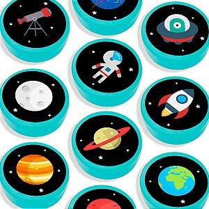 Latinha para Lembrancinha Festa Astronauta - Azul Claro - 20 unidades - Lembrafesta
