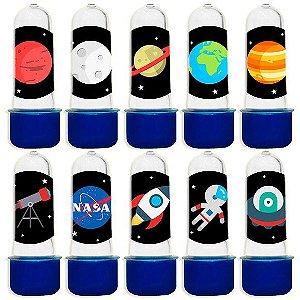 Mini Tubete para Lembrancinha Festa Astronauta - Azul - 20 unidades - Lembrafesta